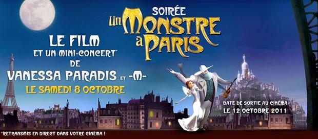 Avant-première exceptionnelle d'UN MONSTRE A PARIS le 8 Octobre à Paris