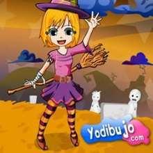 Ana en sorcière - Jeux - Casse-têtes chinois en ligne - Casse-têtes d'Halloween