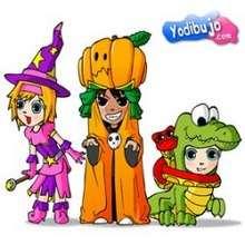 Les Yodimi se déguisent - Jeux - Casse-têtes chinois en ligne - Casse-têtes d'Halloween