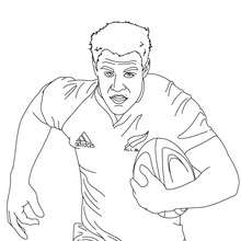 Coloriage du Rugbyman DAN CARTER - Coloriage - Coloriage SPORT - Coloriage RUGBY