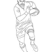 Coloriage du Rugbyman RICHARD Mc CAW - Coloriage - Coloriage SPORT - Coloriage RUGBY