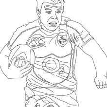 Coloriage du rugbyman BRIAN O'DRISCOLL - Coloriage - Coloriage SPORT - Coloriage RUGBY