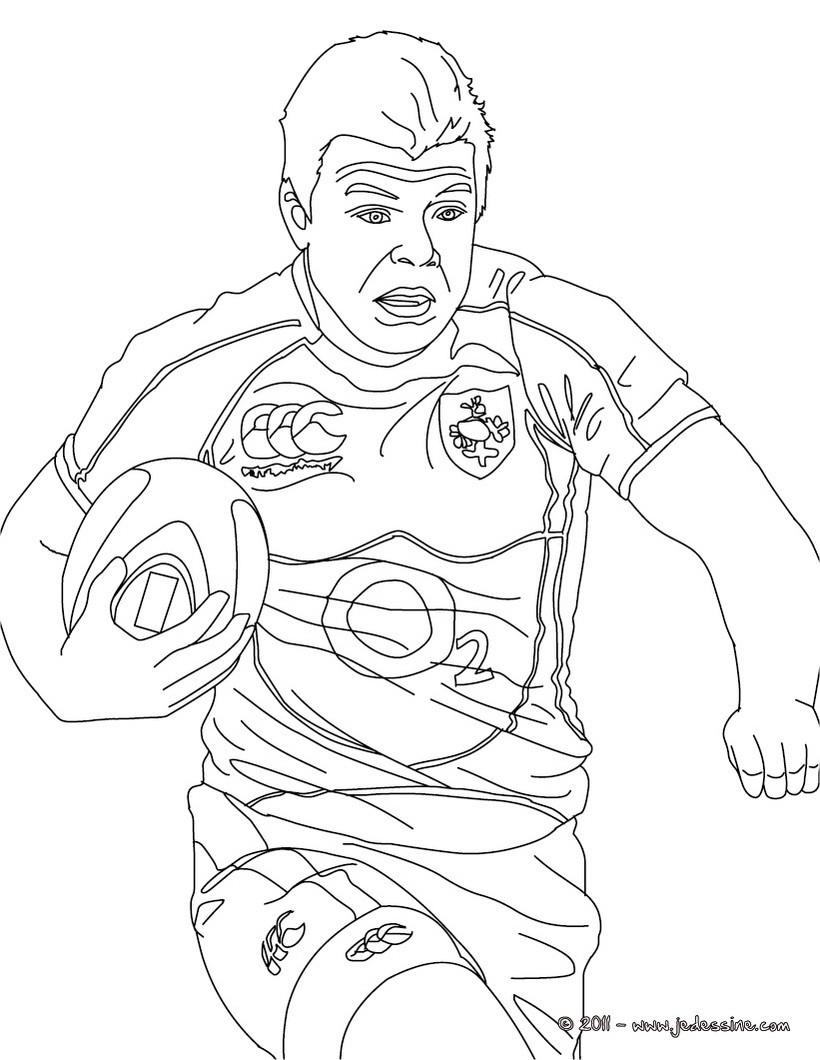 Coloriages coloriage du rugbyman brian o 39 driscoll - Coloriage de rugby ...