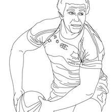 Coloriage du rugbyman WILL GENIA - Coloriage - Coloriage SPORT - Coloriage RUGBY