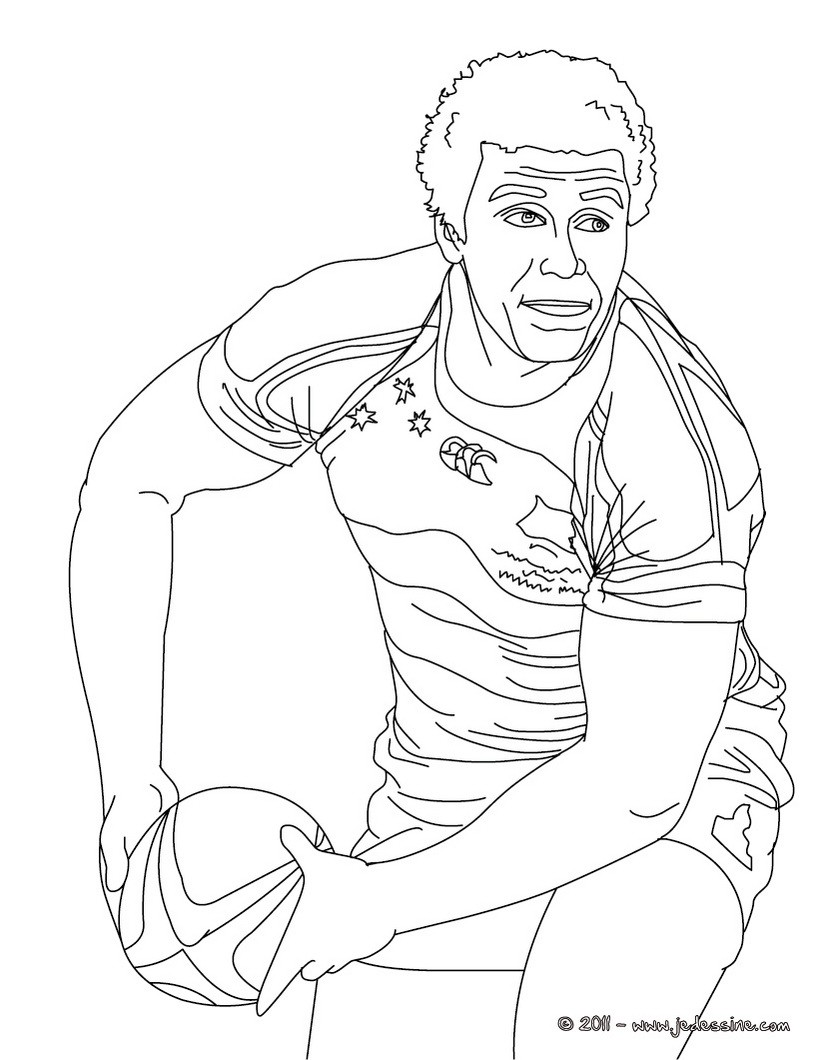 Coloriages coloriage du rugbyman will genia - Coloriage top 14 ...