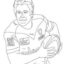 Coloriage du Rugbyman JOHNNY WILKINSON