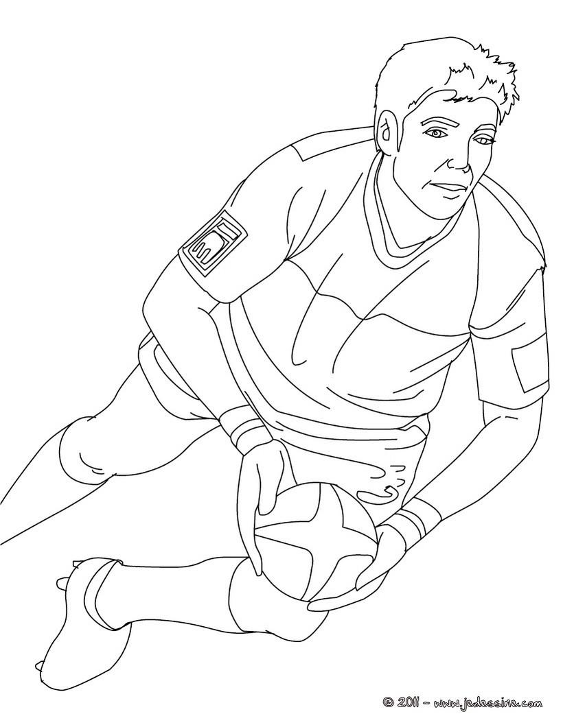 Coloriages coloriage du rugbyman dimitri yachvili - Coloriage de rugby ...