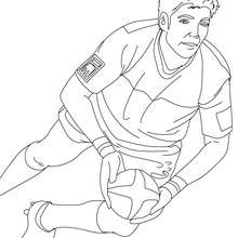 Coloriage du Rugbyman DIMITRI YACHVILI - Coloriage - Coloriage SPORT - Coloriage RUGBY