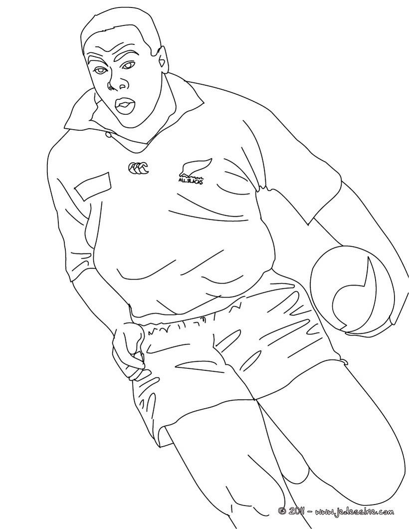 Coloriages coloriage du rugbyman jonah lomu - Coloriage de rugby ...