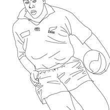 Coloriage du Rugbyman JONAH LOMU - Coloriage - Coloriage SPORT - Coloriage RUGBY