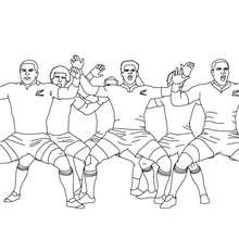 Coloriage du HAKA des All Blacks - Coloriage - Coloriage SPORT - Coloriage RUGBY