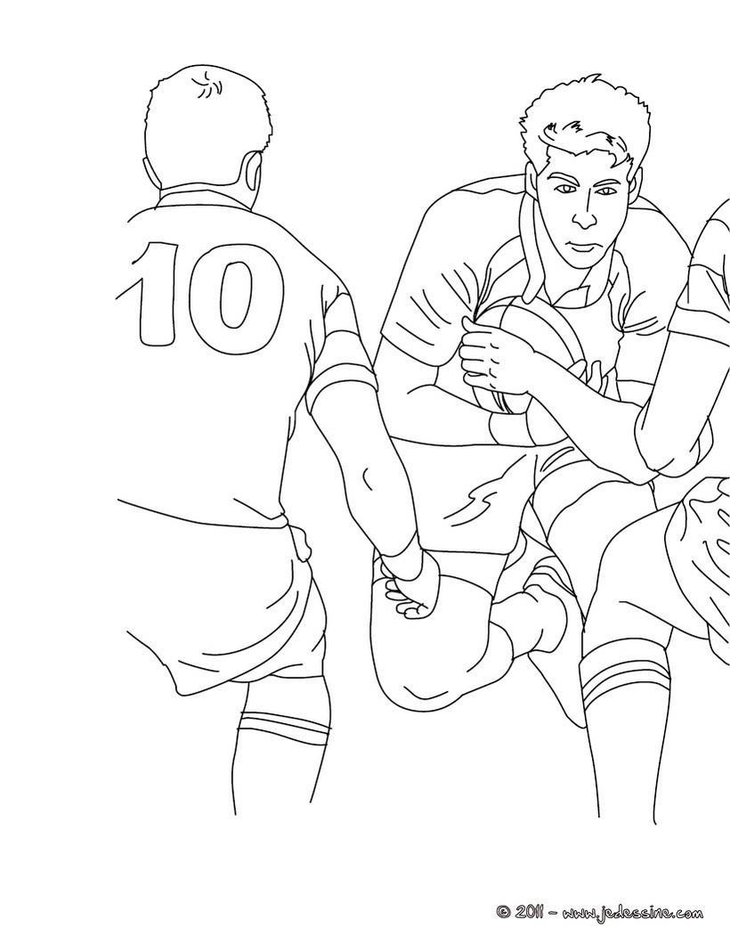 Coloriage d une demie mªlée au Rugby