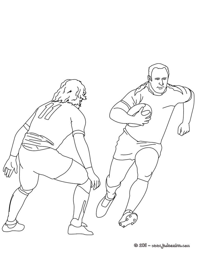Coloriages coloriage d 39 un match de rugby - Coloriage de rugby ...
