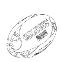 Coloriage du ballon officiel de la Coupe du Monde de Rugby