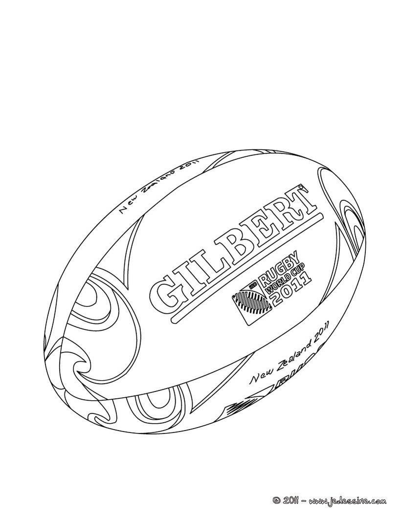 Coloriage du ballon officiel de la Coupe du Monde de Rugby