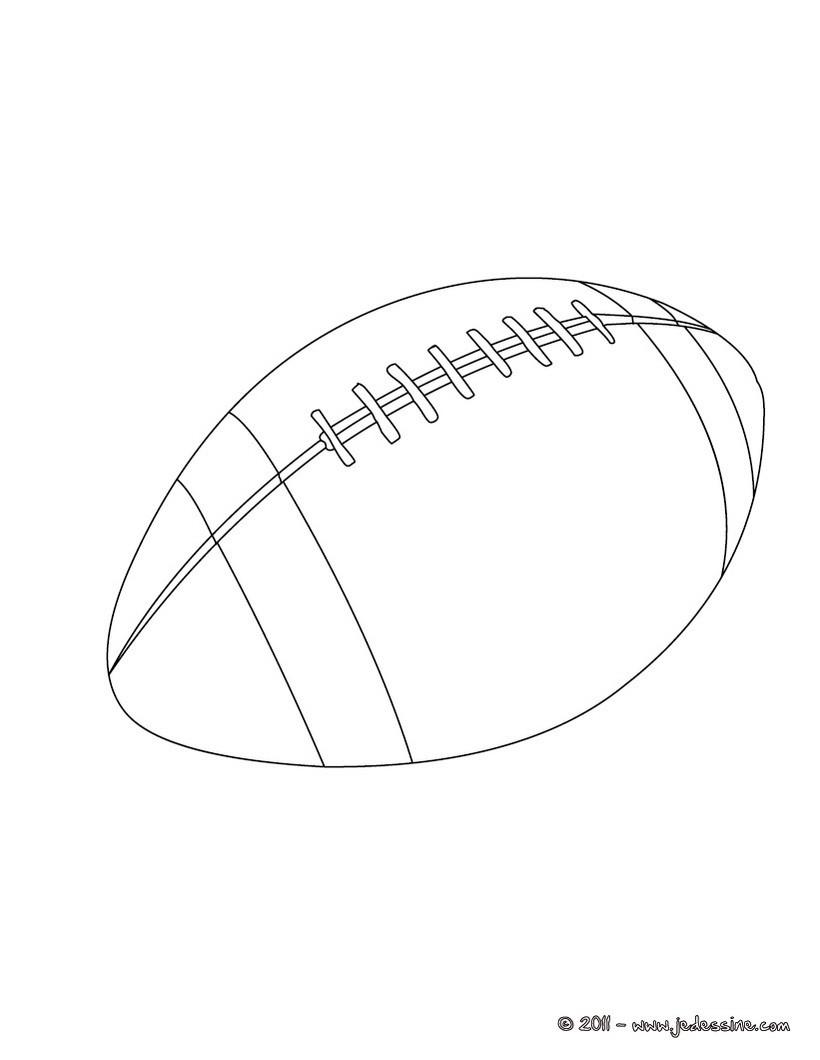 Coloriage d'un ballon de Rugby