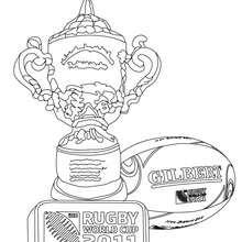 Coloriage de la Coupe du Monde et des Trophées de Rugby