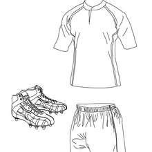 Coloriage du polo, du short et des chaussures de rugby