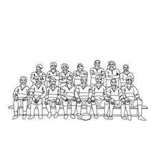 coloriage d'une équipe de Rugby - Coloriage - Coloriage SPORT - Coloriage RUGBY
