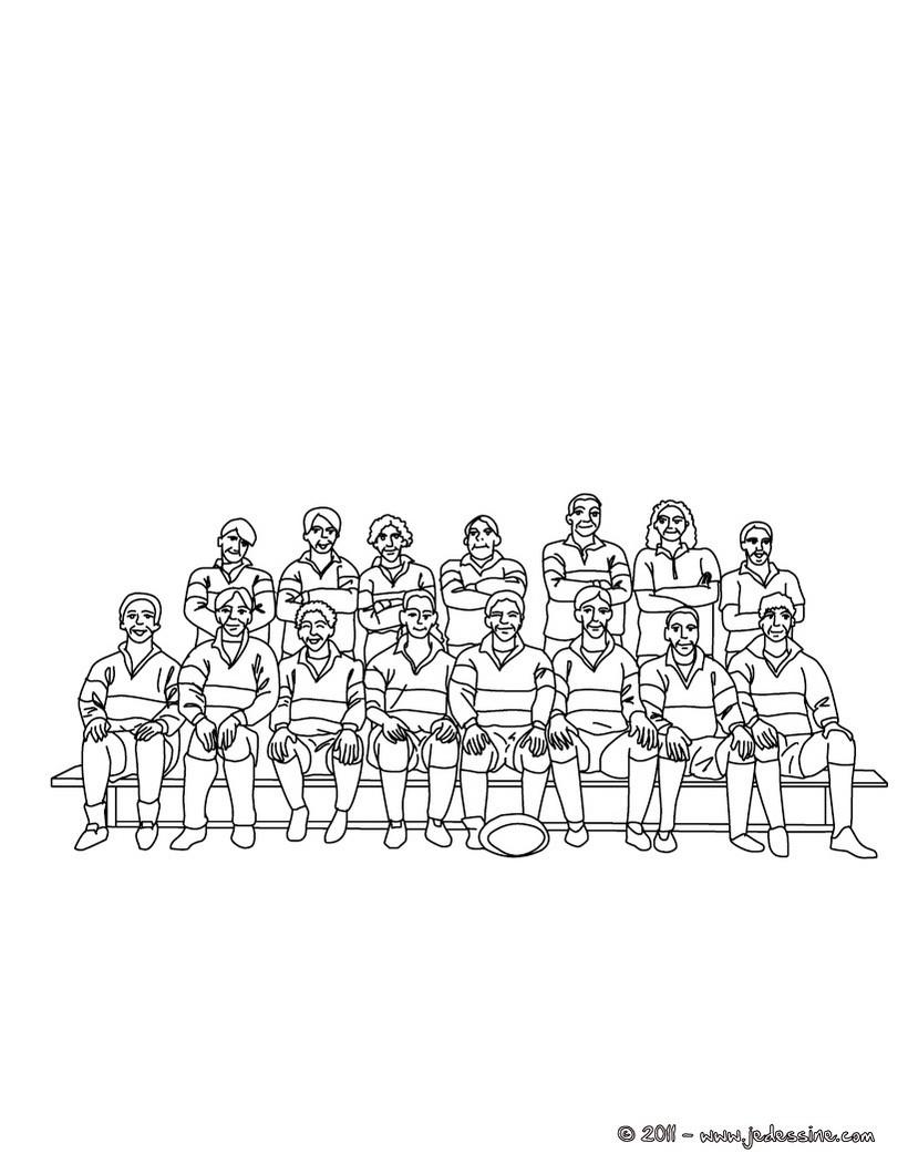 coloriage d une équipe de Rugby