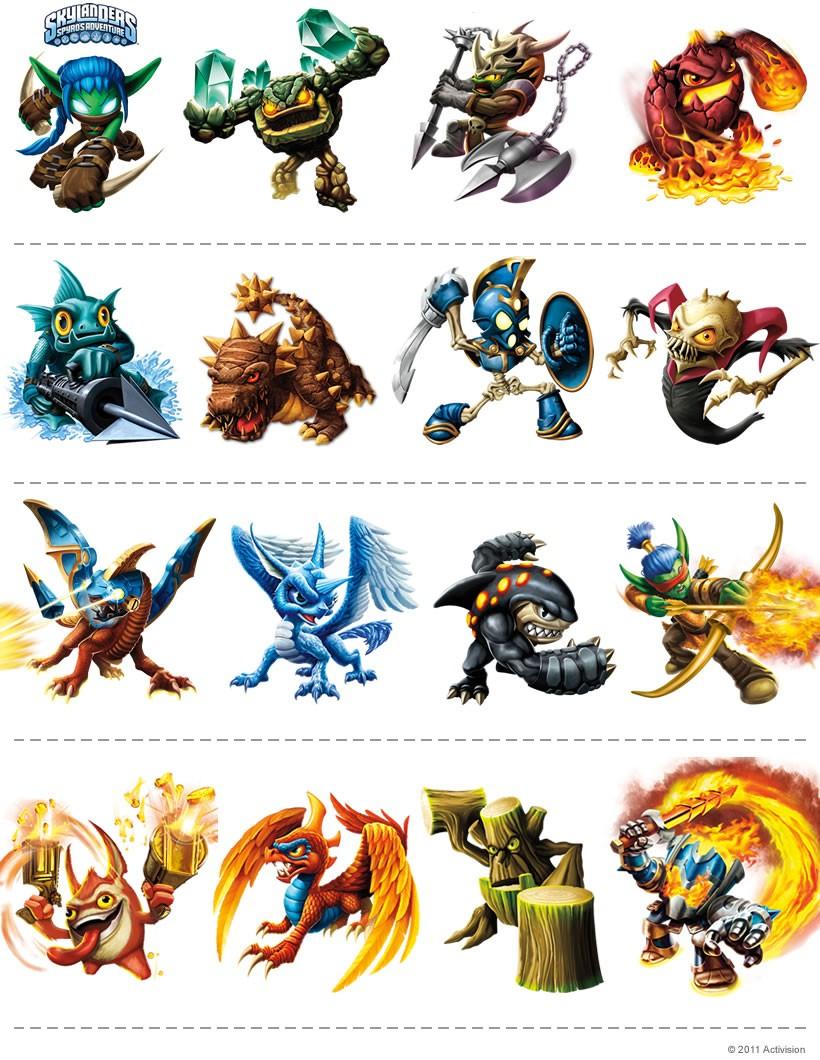 Jeux de connais tu les personnages de skylanders - Jeux gratuit skylanders ...