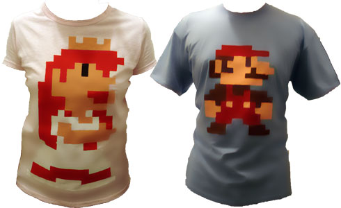 T-shirt Mario Bros Pixel Art
