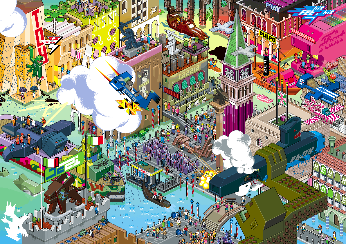 Scene de rue Pixel Art