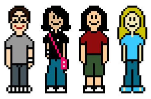 Série de personnages en pixel art