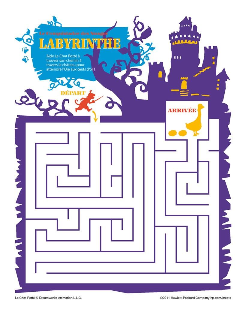 Jeux de labyrinthe chat potte - Jeux de coloriage de chat ...