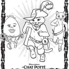 Coloriage gratuit CHAT POTTE
