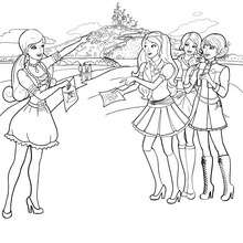 Coloriage de Blair à l'école - Coloriage - Coloriage BARBIE - Coloriage BARBIE APPRENTIE PRINCESSE
