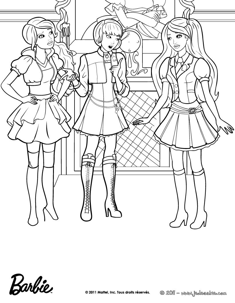 Coloriages coloriage gratuit de blair et ses amies - Barbie princesse coloriage ...