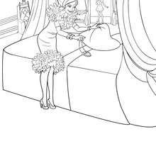 Coloriage de Dame Devin - Coloriage - Coloriage BARBIE - Coloriage BARBIE APPRENTIE PRINCESSE