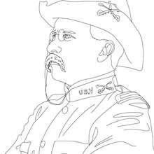 Coloriage du Président THEODORE ROOSEVELT