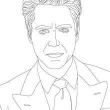Coloriage de l'acteur ROBER DOWNEY JR