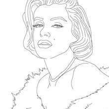 Coloriage de MARYLIN MONROE