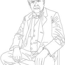 Coloriage de THOMAS EDISON