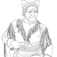 Coloriage de GERONIMO - Coloriage - Coloriage HISTOIRE ET PAYS - Coloriage ETATS-UNIS - Coloriage d'amricains clbres