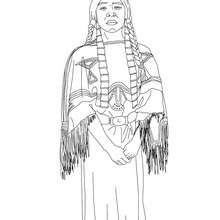 Coloriage de SACAJAWEA - Coloriage - Coloriage HISTOIRE ET PAYS - Coloriage ETATS-UNIS - Coloriage d'amricains clbres