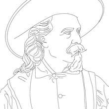 Coloriage de BUFFALO BILL - Coloriage - Coloriage HISTOIRE ET PAYS - Coloriage ETATS-UNIS - Coloriage d'amricains clbres