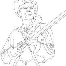 Coloriage de DAVY CROCKETT - Coloriage - Coloriage HISTOIRE ET PAYS - Coloriage ETATS-UNIS - Coloriage d'amricains clbres