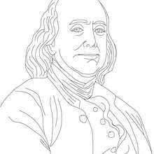 BENJAMIN FRANKLIN - Coloriage - Coloriage HISTOIRE ET PAYS - Coloriage ETATS-UNIS - Coloriage d'amricains clbres
