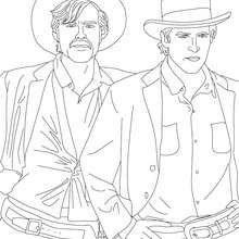 Coloriage de BUTCH CASSIDY - Coloriage - Coloriage HISTOIRE ET PAYS - Coloriage ETATS-UNIS - Coloriage d'amricains clbres