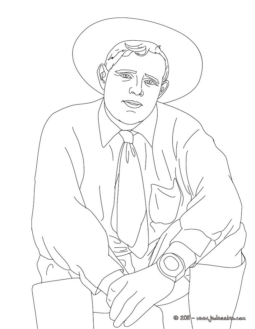 Coloriage de l'écrivain JACK LONDON