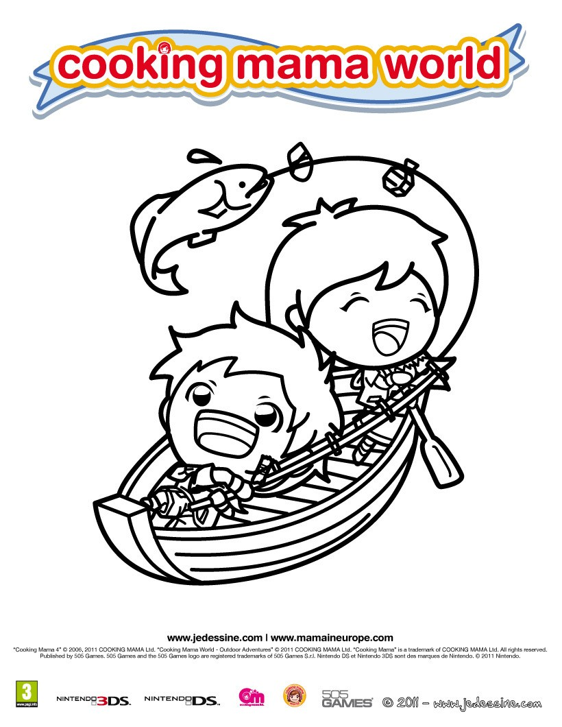 Coloriage Cooking Mama 6 - Club Aventure