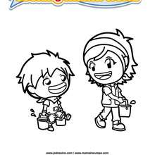 Coloriage Cooking Mama 7 - Club Aventure - Coloriage - Coloriage A IMPRIMER - Coloriage COOKING MAMA WORLD