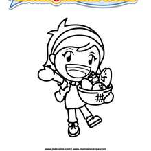 Coloriage Cooking Mama 8 - Club Aventure - Coloriage - Coloriage A IMPRIMER - Coloriage COOKING MAMA WORLD