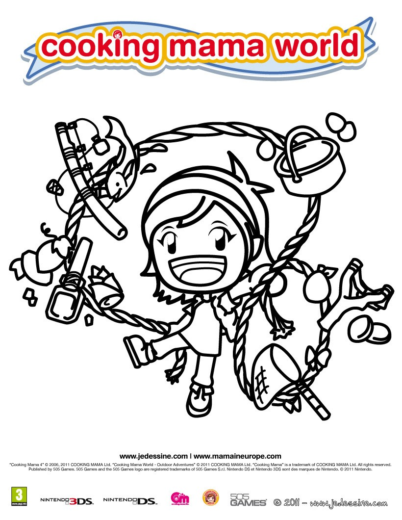 Coloriage Cooking Mama 9 - Club Aventure
