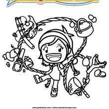 Coloriage Cooking Mama 9 - Club Aventure - Coloriage - Coloriage A IMPRIMER - Coloriage COOKING MAMA WORLD