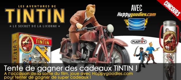 Gagne des cadeaux TINTIN avec Happygoodies